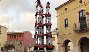 9 de 8 de la Colla Vella dels Xiquets de Valls a Altafulla