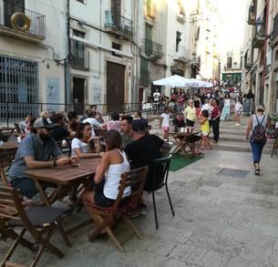 Imatge de la terrassa a la plaça dels Sedassos.