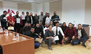 Foto de família dels alumnes que han acabat el curs.