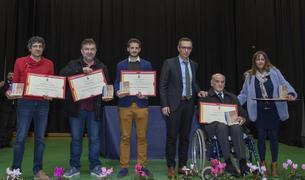 Imatge d'alguns dels premiats per l'Ajuntament de Constantí.