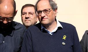 Torra diu que la manifestació del 16-F és «un canvi d'actitud» dels catalans i assegura que ha esborrat la paraula 'endarrere'