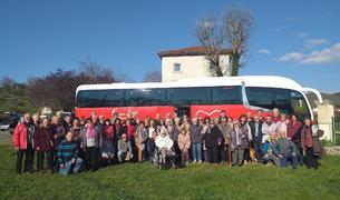 Foto del grupo de creixellencs que han viajado hasta Francia.