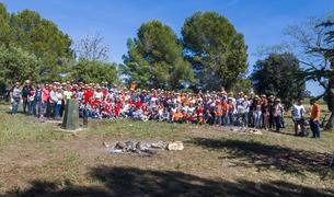 Los participantes en la segunda edición del concurso de paellas.