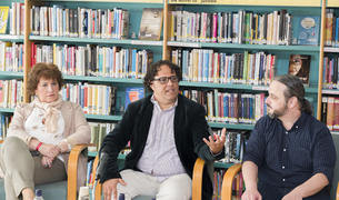 Imagen de la presentación de la novela 'Nephilim'.