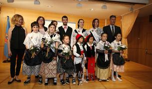 Foto de los pequeños que representarán el municipio en todos los actos y fiestas populares y tradicionales.