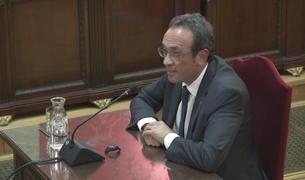 Plano general de Josep Rull durante el último turno de palabra en el Tribunal Supremo.