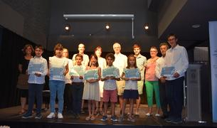 Fotografía de los ganadores.