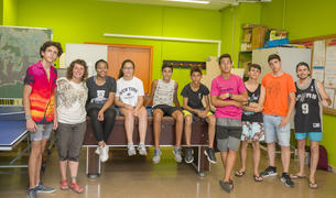 Imagen de los jóvenes que realizan el curso.