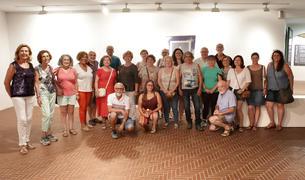 Imagen de los participantes al curso con el fotógrafo Ramon Giner.