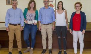 Imagen del acto de entrega de los premios del Concurs d'Instagram de la Festa Major d'Estiu de Constantí.