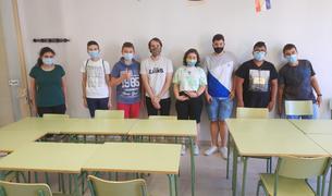 Grupo de jóvenes que ha participado en los talleres.