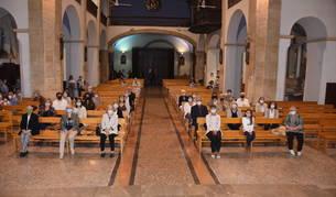 Misa en honor a Santa Rosalia.