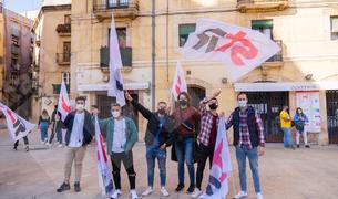 Manifestació dels treballadors de la petroquímica a Tarragona