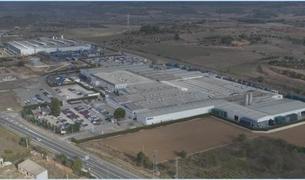 Imatge aèria de la planta de Mahle a Montblanc.