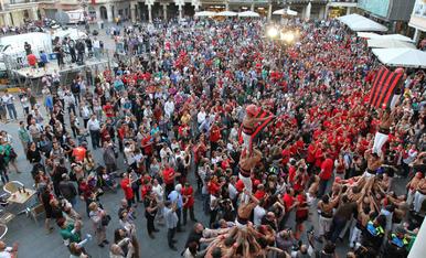 Rua de celebració de l'ascens del CF Reus. 03