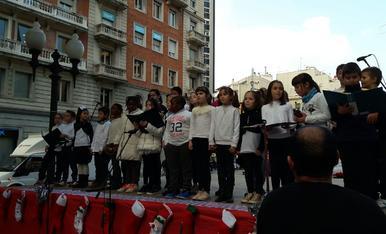 Tradicional cantada de Nadales a Tarragona per part dels més petits