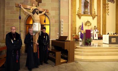 Processó dels Natzarens i Viacrucis a l'església de Sant Francesc