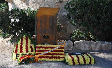 Ofrenes florals a Mont-roig del Camp en motiu de la Diada de l'11 de Setembre