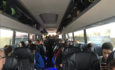 Autobusos de diversos punts marxen cap a Bèlgica
