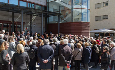 Els advocats llegeixen el manifest davant dels jutjats de Reus