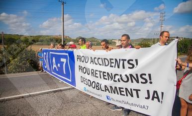 Manifestación desdoblamiento de la N-340
