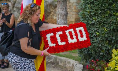 L'ofrena a Salvador Allende a Tarragona