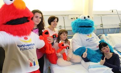 Triki i Elmo visiten els hospitals de Tarragona i Reus
