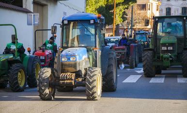 'Tractorada' per reivindicar el sector de l'avellana