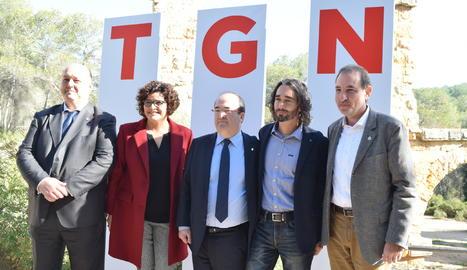 Miquel Iceta i Ramon Espadaler, a la presentació de la llista del PSC a Tarragona pel 21D
