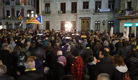 La convocatòria de l'ANC s'ha estès a altres poblacions. En imatge, la plaça Mercadal de Reus.