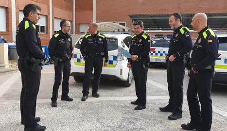 Imatge d'arxiu d'agents de la policia local de Cunt.
