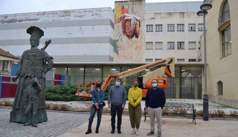 Imagen del mural gigante.
