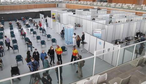 vacunació, Palau d'Esports Catalunya, Tarragona, Anella Mediterrània, Campclar, coronavirus, covid-19, pandèmia, virus, Salut