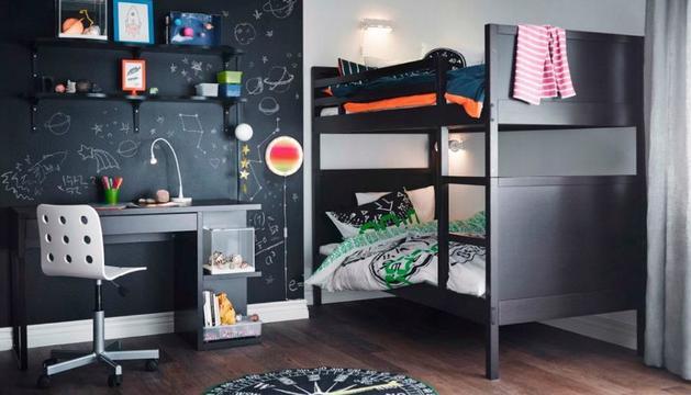 Imatge d'una habitació juvenil d'IKEA.
