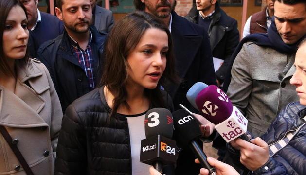 Inés Arrimadas, aquest matí a Tarragona.