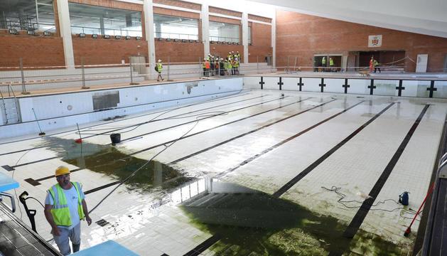 Imatge de l'estat actual deles obres al Complex esportiu de Campclar.