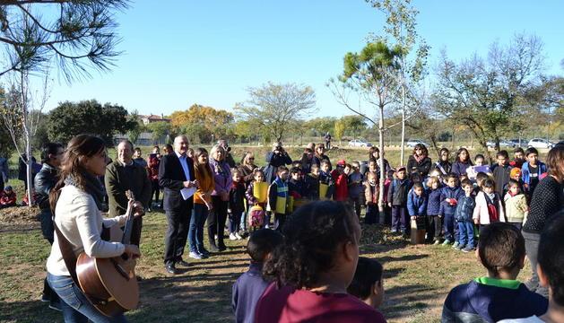 Aquest divendres s'ha fet l'acte en què s'han presentat les rotulacions dels arbres.