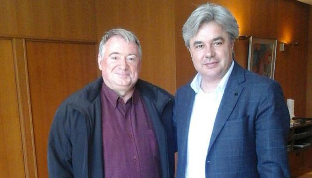 L'alcalde de l'Arboç, Joan Sans, i el