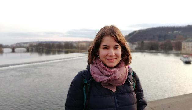Imatge de la Júlia Garcia a Dresden, Alemanya, on es troba estudiant un màster.