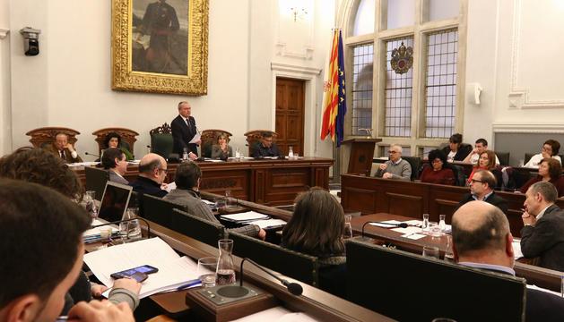 Una imatge d'arxiu d'una sessió de ple a Reus.