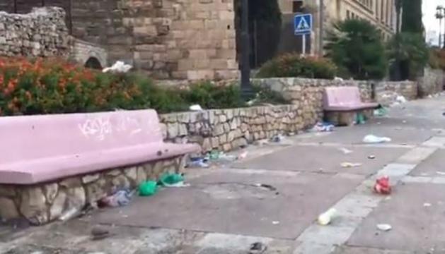 Imatge de les deixalles acumulades a la zona.