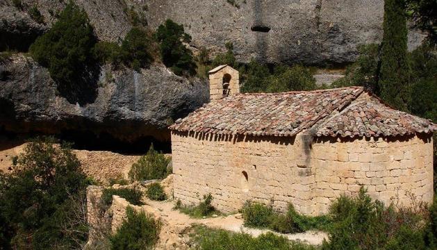 Imatge de l'ermita de Sant Bartomeu Fraguerau d'Ulldemolins.