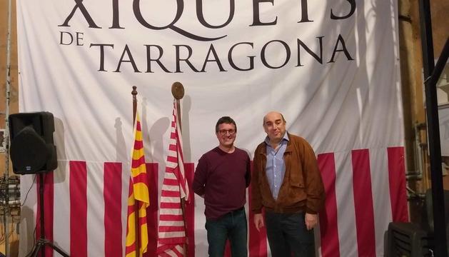 Alfredo González (esquerra) i Rafa Segarra (dreta), els nous cap de colla i president dels Xiquets de Tarragona, respectivament.