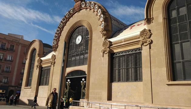 La fachada del Mercado Central de Tarragona.