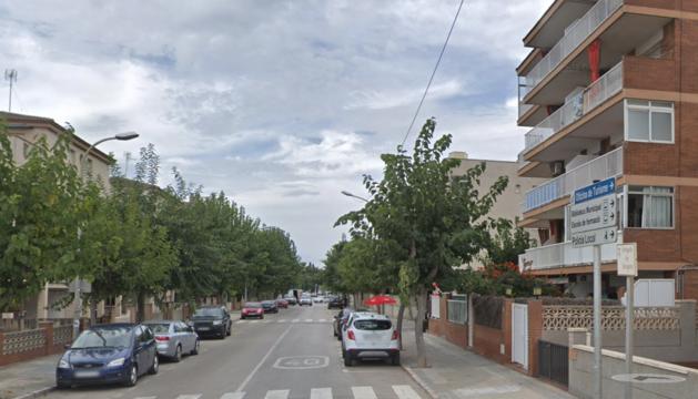 Imatge d'arxiu de l'avinguda Tarragona de Cunit.