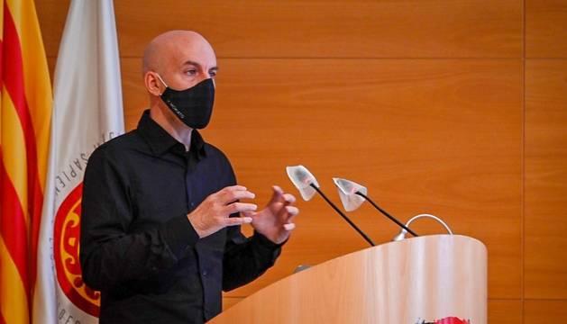 Àlex Arenas durant el discurs inaugural del curs 2020-21 de la URV.