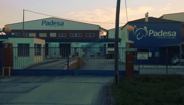 Plano general de las instalaciones de Padesa en Amposta.