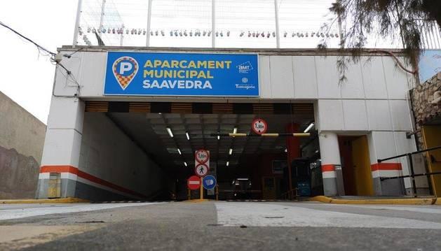 Imatge de l'aparcament Saavedra.