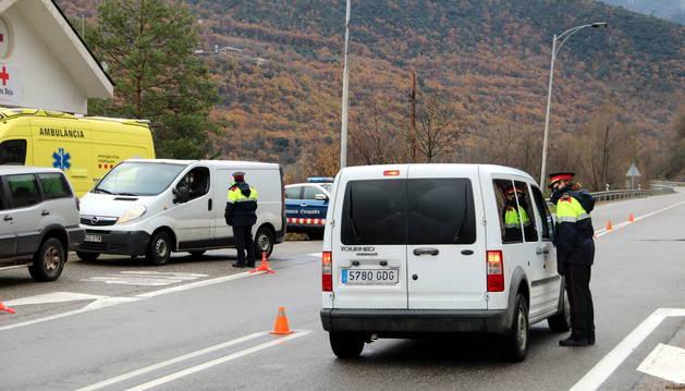 Un control de movilidad de los Mossos d'Esquadra.