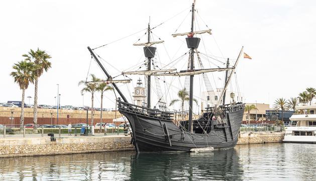 Imatge del vaixell Nao Victòria, que es podrà visitar al Port fins al diumenge dia 20 de juny.